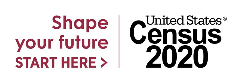 Shape your future start here, United States Census 2020 logo