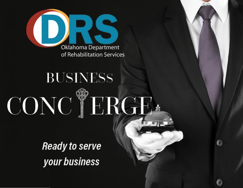 A man in a black suit with white gloves holding out a service bell. Business concierge ready to serve your business
