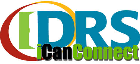 iCanConnect with DRS logo