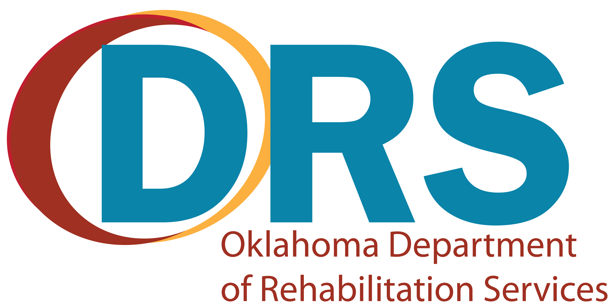Logo: DRS with circle around the D, Oklahoma Department of Rehabilitation Services