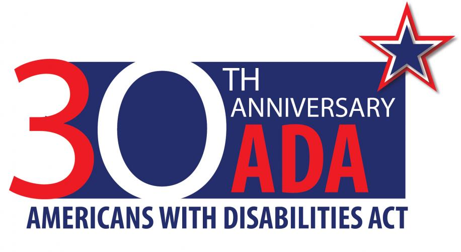 30th Anniversary ADA. Image: Star. Americans With Disabilities Act.