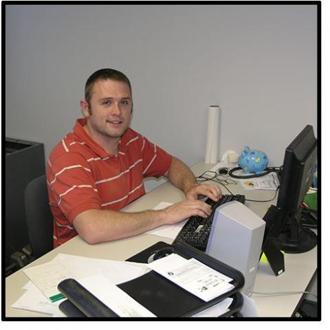 Jaques at his computer