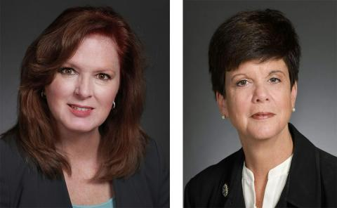 Portraits of two women