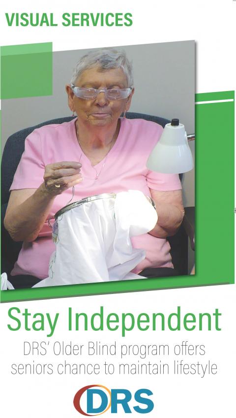 Cover of Older Blind brochure.