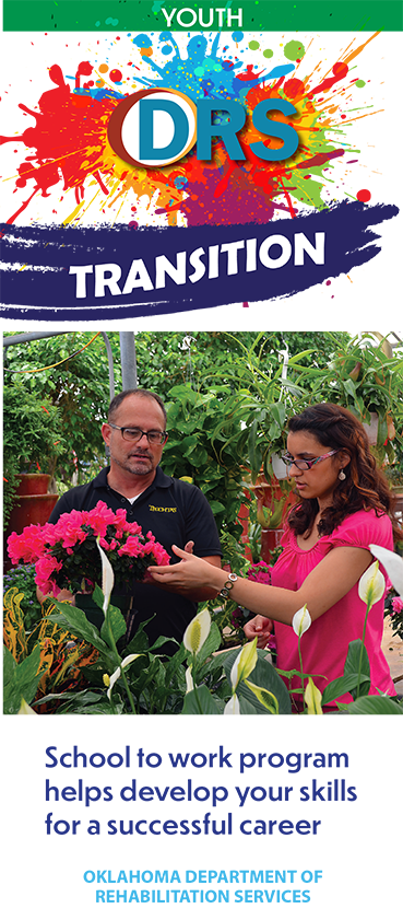 Cover of Transition School to Work Youth trifold