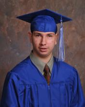 Portrait of Gentry in his cap and gown