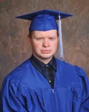 Portrait of Fenton in his cap and gown