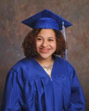 Portrait of Lewis in her cap and gown