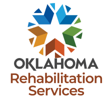 Circle of cheveron shapes with star in the middle. Oklahoma Rehabilitation Services.