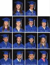 14 portraits of the Senior Class.