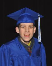 Marsh in cap and gown.