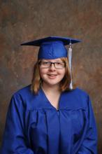 Portrait of Matthews in her cap and gown