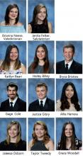 11 head shots of the senior class.