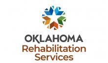 """Colors surround white star above the words, """"Oklahoma Rehabilitation Services."""""""