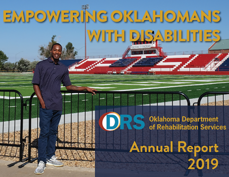 Photo of cover of Fiscal Year 2019 Oklahoma Department of Rehabilitation Services Annual Report.