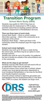Cover of Transition School Work Study and Work Adjustment Training card
