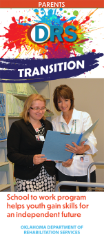 Cover of Transition School to Work Parent trifold