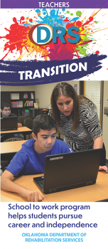 Image of cover of Transition School to Work Teachers trifold